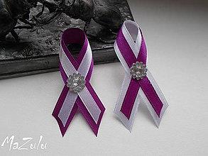 Pierka - purpurová & biela/levanduľova - 6828905_