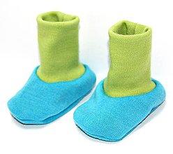 Topánočky - Topánočky 100% LETNÁ MERINO VLNA, veľ. 0-8m, výška lemu 7cm - VÝBER FARIEB - 6828328_