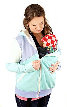Tehotenské oblečenie - 4v1 MIKINA - dojčiacia, tehotenská, nosiacia a normal - 6829314_