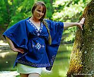 Tunika so zaväzovaním, maľovaná, folk PRIADKA