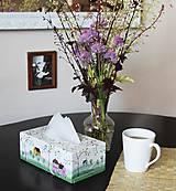 Krabičky - Ručne maľovaný servitkovník s krajinkou - 6827466_