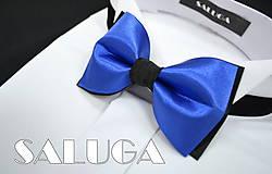 Detské doplnky - Modro čierny detský motýlik - 6829005_