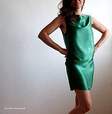 Šaty - smaragdové letné minišaty - 6827666_