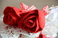 Dekorácie - zápich ruža - 6827943_