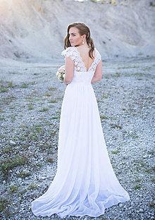 Šaty - Svadobné šaty v ľudovom motíve s vlečkou - 6828581_