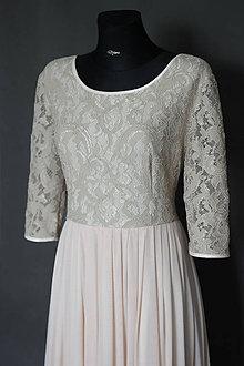 Šaty - Spoločenské tričkové šaty z krajky a tylu - 6828797_