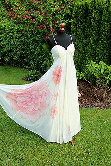 Šaty - Maľba na svadobné šaty... - 6827366_