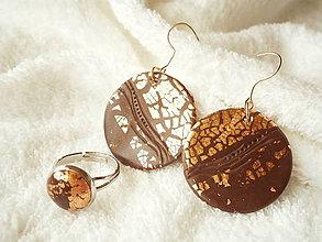 Sady šperkov - Polymérový set, čokina s meďou - 6828331_