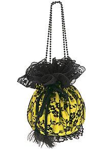 Kabelky - Pompadúrka žltá čipková , kabelka pre nevestu  9p - 6832479_