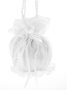 Kabelky - Pompadúrka svadobná biela , kabelka  pre nevestu 1470A - 6833610_