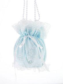 Kabelky - Pompadúrka modrá svadobná , kabelka pre nevestu 4KL - 6833644_