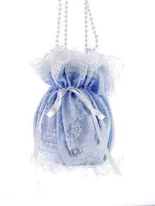 Kabelky - Pompadúrka modrá svadobná , kabelka pre nevestu 5KL - 6833651_