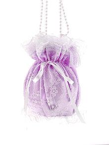 Kabelky - Pompadúrka fialová svadobná , kabelka pre nevestu 6KL - 6833670_