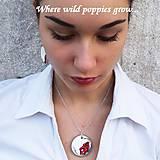 Sady šperkov - Ručne maľovaná sada šperkov - Divé Maky - 6830679_