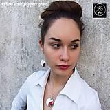 Sady šperkov - Ručne maľovaná sada šperkov - Divé Maky - 6830688_