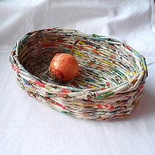 Dekorácie - Oválny košíček MIRKO-23cm - 6833582_