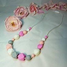 Detské doplnky - Silikónový náhrdelník Lilien - 6831894_