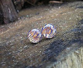 Náušnice - Krúžky 9 mm s kovovým efektom (medené) - 6833205_