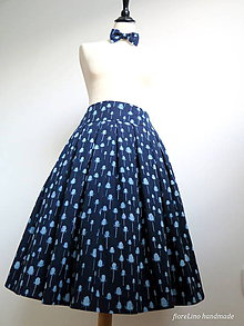 Sukne - sukňa a motýlik z modrotlače - ON a ONA Modrotlačoví - 6832125_