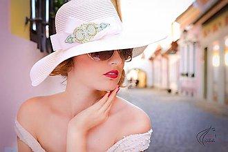 Ozdoby do vlasov - Summer glam - šujtášový klobúk - 6832270_