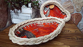 Nádoby - Keramická súprava s pedigom v orange - 6832232_