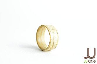 Prstene - Drevený prsteň - svetlý Dub - 6833456_