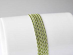 Galantéria - Sutaška Beadsmith USA - Rayon Celery/Ivy 3mm, bal.1m - 6831355_