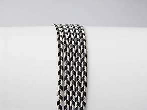 Galantéria - Sutaška Beadsmith USA - Rayon Silver Grey/Black 3mm, bal.1m - 6832083_