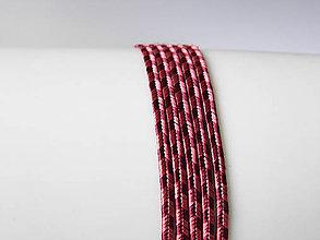 Galantéria - Sutaška Beadsmith USA - Rayon Rose/Merlot 3mm, bal.1m - 6832186_