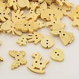 - Gombíky 10 ks - mix tvarov - 6831509_
