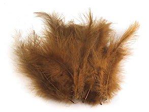 Suroviny - Pštrosie perie 20 ks (hnedé) - 6831211_