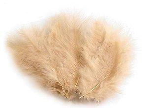 Suroviny - Pštrosie perie 20 ks (béžové) - 6831220_