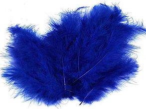Suroviny - Pštrosie perie 20 ks (tmavo modré) - 6831291_