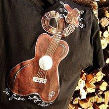 Tričká - The Guitar is my LOVE - 6834030_