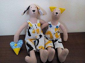 Hračky - psíček a mačička - 6833749_