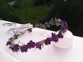 """Ozdoby do vlasov - Kvetinový venček do vlasov """"...keď voňajú fialky..."""" - 6834037_"""