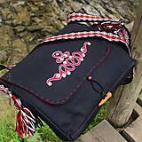 """Veľké tašky - Taška """"Laténska výšivka"""", čierna - 6835874_"""