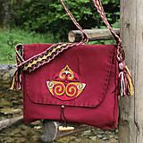 """Veľké tašky - Taška """"Laténska výšivka"""", tmavočervená - 6835897_"""