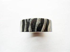 Papier - washi páska - zebra, bielo-čierna - 6836467_