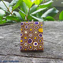 Náhrdelníky - fialový klimt - 6838376_