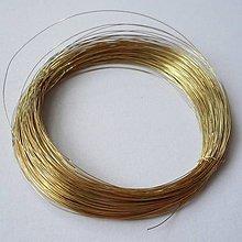 Suroviny - Drôt 0,18mm-20m (zlatá) - 6839365_