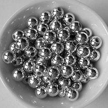 Korálky - GL METALIC plast 6mm-50ks - 6839378_