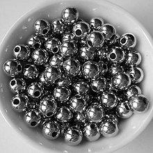 Korálky - GL METALIC plast 6mm-50ks - 6839407_