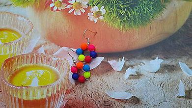 Náušnice - farebné neónky - 6839132_