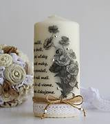Svietidlá a sviečky - Dekoračná sviečka - pre pani učiteľky ku koncu šk. roka - 6836121_