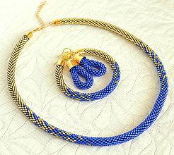 Sady šperkov - Gold/Sapphire Complet Set - 6837915_