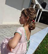 """Detské oblečenie - Low Back šaty """"Ľanové"""" dlhé - 6836667_"""