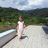 """Detské oblečenie - Low Back šaty """"Ľanové"""" dlhé - 6836679_"""