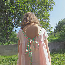 """Detské oblečenie - Low Back šaty """"Ľanové"""" dlhé - 6836680_"""