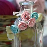 Náramky - Náramok Pastelové fimo ruže - 6837630_